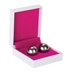 Shots Toys: Ben Wa Balls, Medium Weight, silver Silver
