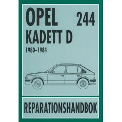 OPEL KADETT D 1980-1984 Svensk Reparationshandbok