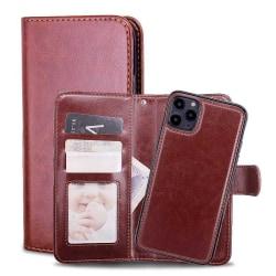 Iphone 11 Fodral Plånbok och Magnetskal Brun Brun