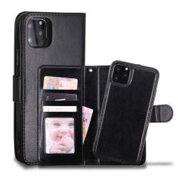 Iphone 11 Pro Fodral Plånbok och Magnetskal Svart Svart