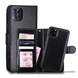 Iphone 11 Pro Max Fodral Plånbok och Magnetskal Svart Svart