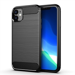 Iphone 11 Pro Skal i borstad TPU till Iphone 11 Pro Svart
