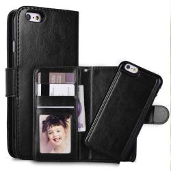 Iphone 8 / 7 / SE (2020) plånboksfodral Magnet skal Svart