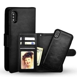 Iphone X / Xs plånbok fodral Magnet Skal Svart