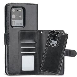 s20 Ultra plånboksfodral Magnet skal till Samsung s20 Ultra Svart