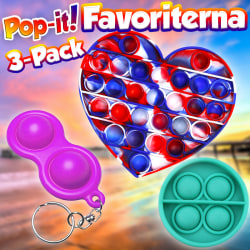 Pop-it 3-Pack | Fidgets | Favoriterna | Nyhet 2021