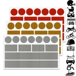 Reflexdekal 3-pack | Reflex klistermärken | Välj färg flerfärgad