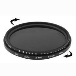 52 mm ND-Filter Gråfilter variabelt mellan 2-400