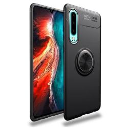 iCoverCase | Huawei P30 | Ring Holder Skal  Black