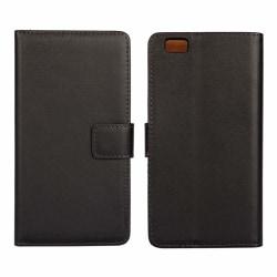 iCoverCase | Huawei P8 Lite | Plånboksfodral  Svart