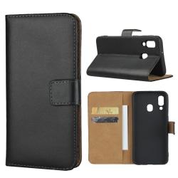 iCoverCase | Samsung Galaxy A40 | Plånboksfodral   Svart
