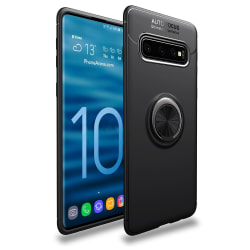 iCoverCase | Samsung Galaxy S10 Plus | Ring Holder Skal  Svart