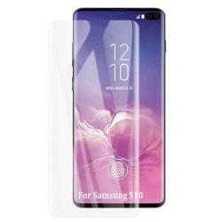 iCoverCase | Samsung Galaxy S10 | Skärmskydd  Härdat Glas Transparent
