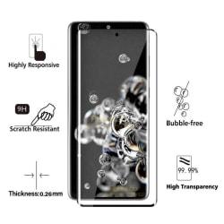 iCoverCase | Samsung Galaxy S20 | Heltäckande Skärmskydd Transparent