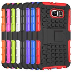 iCoverCase | Samsung Galaxy S6 | Stöttåligt skal | Hybrid Case Röd