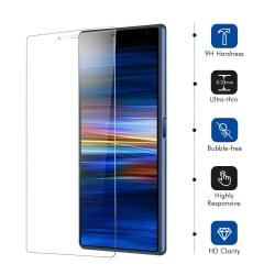 iCoverCase   Sony Xperia L3   2-Pack Skärmskydd   Härdat Glas Transparent