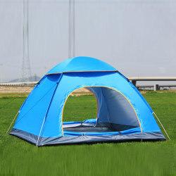 2/3/4 personer Automatisk pop-up campingtält Vattentätt fiske Blå 3-4 personer