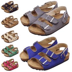 Barn pojkar och flickor bär sandaler avslappnade skor Brun 22
