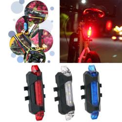 Cykel Bakljus LED USB Uppladdningsbar Säkerhetsvarning Baklampa Röd