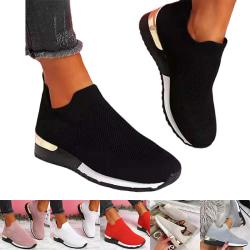 Dam casual sportskor bekväma och hälsosamma enkla skor enfärgade Svart 40