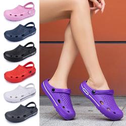 Dam sandaler casual strandskor bekväma platta skor Violett 40