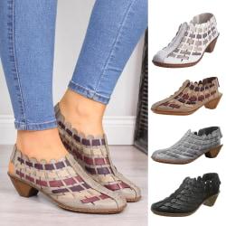 Dam sandaler sommar korsvävda sandaler ihåliga andas Aprikos 38