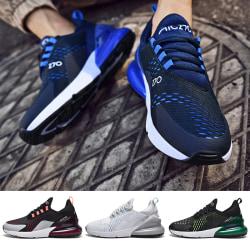 Herrmode Air Cushion löparskor utomhus fritid jogging sneakers grå 39