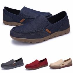 Herrmode ljusa avslappnade skor enfärgade affärsdukskor Grå 38