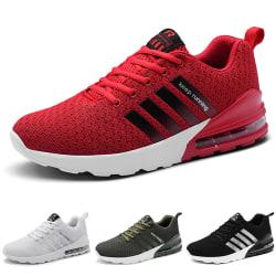 Herrskor för luftkudde för män, casual skor för andningsförmåga Röd 42