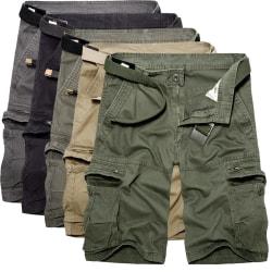 Män Enfärgade shorts Andningsoveraller Overallerströjor Grön 38