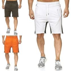 Män Sommar Beach Shorts Bottom Casual Sportbyxor Vit 3XL