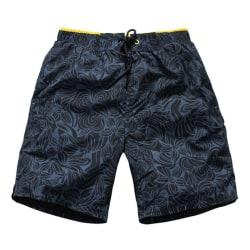 Mäns blommiga boxershorts underbyxor Casual lösa strandbyxor Blue L