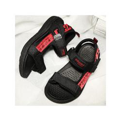 Pojkar bokstäver sandaler med kardborrband sandaler med öppen tå röd 41