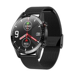 Smart Watch IP68 PPG EKG Sleep Monitor Anti-lost SMS Svart Stål