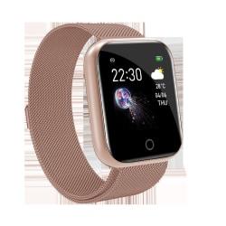 Unisex Smart BT4.0 Watch Sleep Monitor IP67 Fjärrkamera Gold Steel