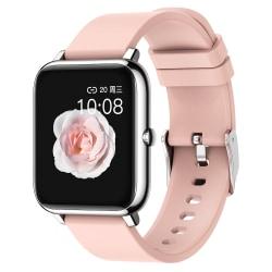 Unisex Smart Watch Vattentätt BT Fitness Armband iOS Android Rosa