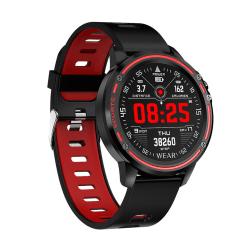 Unisex Smart Sports Watch IP68 Vattentät EKG PPG Sleep Monitor Röd