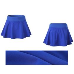 Veckad tenniskjol för damer med shorts som kör kort kjol blå M
