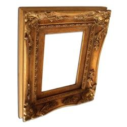 18x23 cm eller 7x9 ins, fotoram i guld Guld
