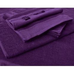 2 stycken badlakan och 2 stycken handdukar i 100% bomull Lila