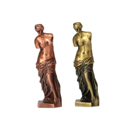 2 stycken Venus i metall, 18x5,5x5,5 cm i bronz Guld