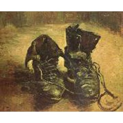 A Pair of Shoes,Vincent Van Gogh,45x37.5cm multifärg
