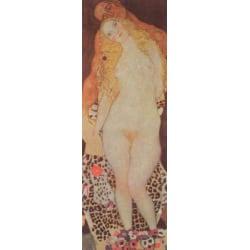 adam and eve,Gustav Klimt,80x27cm