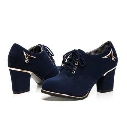 Blåa skor med klackarna Blue 35