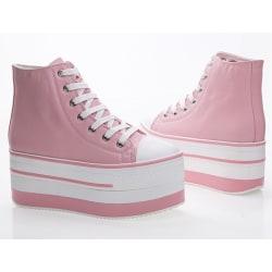 Casual skor i rosa färg, 7 cm höga sulor Pink 39
