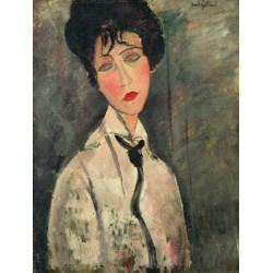 Femme a la cravate noire,Amedeo Modigliani,50x40cm multifärg