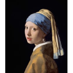 Girl with a Pearl Earring er,Johannes Vermeer,46.5x40cm multifärg