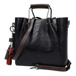 Handväskan i svart LAMM3702S Svart one size