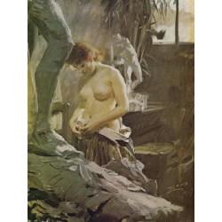 i wikstoms atelje,Anders Zorn,60x81cm