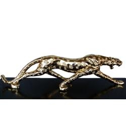 Leopard i guld, skulptur 94x20x15 cm Guld